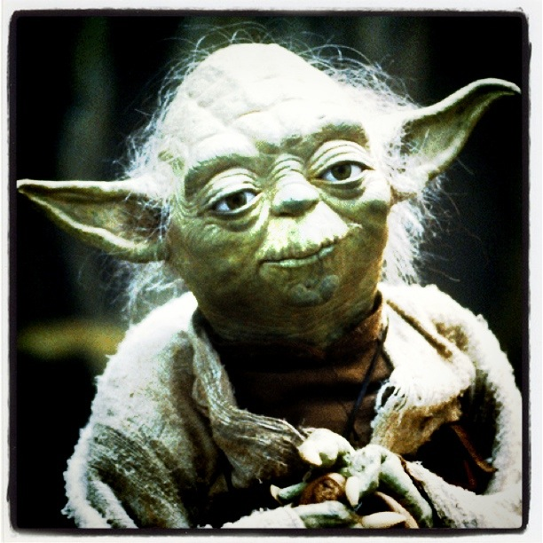 Yoda likes QR codes too.