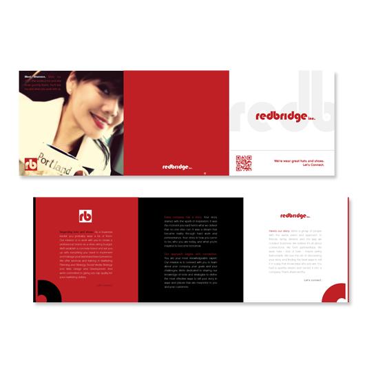 Redbridge trifold branding brochure